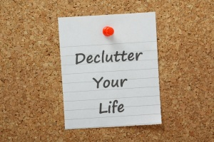 Declutter Your Life on a cork notice board